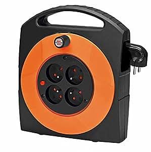 Brennenstuhl 1091681 Primera-Line Enrouleur électrique 15 m Orange