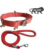 S.Blaze 1 INCH RED Designed Dog Collar Belt, 1.5M LENGTHY Dog Dog Collar & Leash (Medium, Multi Color)