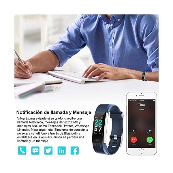Rayfit Pulsera Actividad Inteligente Reloj Deportivo Impermeable Fitness Tracker Monitor de Ritmo Cardíaco Podómetro… 5