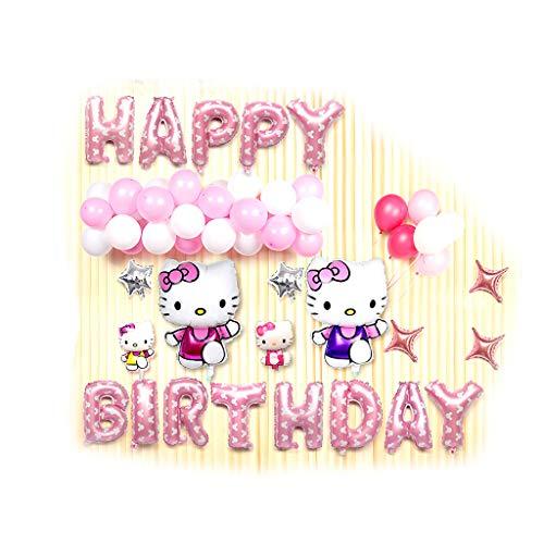 Ballon Set, Kt Cat Girl EIN Jahr Geburtstag Party Theme Dekoration Dekoration Lieferungen - perfekte Geburtstagsfeier Dekoration Ballons für Mädchen (Color : 4) ()