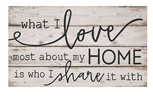What I Love Most about my Home weiß wash 61x 35,6cm Kiefer massiv Holz Palette Wandschild Schild