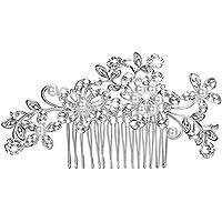 Toruiwa Peigne à cheveux Mariage Bijoux Vintage avec Décoration de Perle Artificielle Cristal pour Mariée Demoiselle