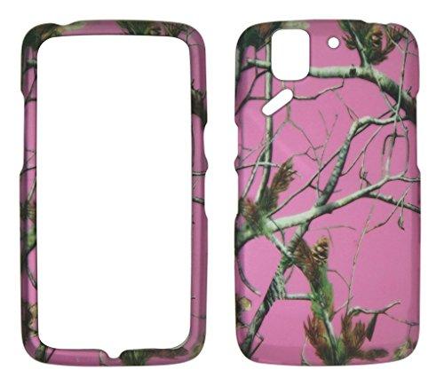 2D Pink Camo Realtree Pantech Flex P8010AT & T Schutzhülle Hard Case Snap On Cover Gummiert Touch Displayschutzfolie Fällen (Lg Flex-fall)