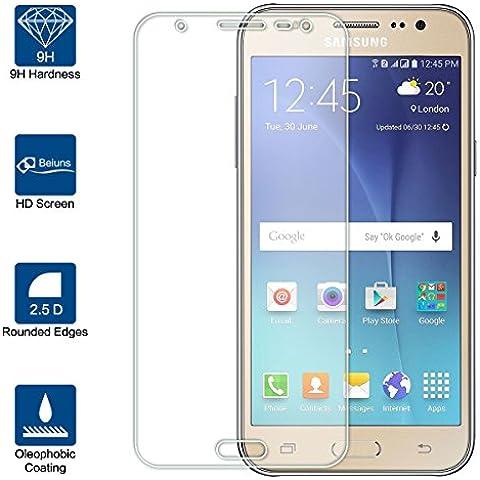 Beiuns Vidrio Templado Protector de Pantalla para Samsung Galaxy J7 (2016) / J7 (2016) Duos (5,5 pulgadas)(no para Samsung Galaxy J7