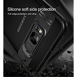 Full Protective TPU and Acrylic Transparent Back Cover Case for Galaxy Samsung S8 - Black