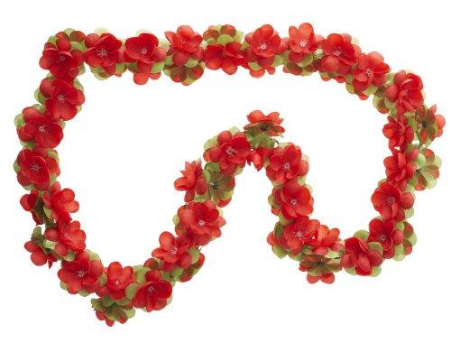 Blumengirlande rot ~ ca. 130 cm ~ zum verschönern Ihres Fahrrades z.B. für Fahrradkorb , Lenker oder Ihrer Wohnung