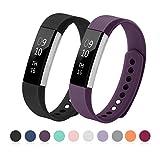 Kutop für Fitbit Alta HR Armband, TPU Soft Silikon Sport Fitness Ersatzband Silikagel Verstellbares Uhrenarmband für F