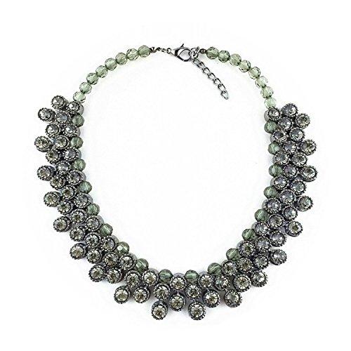 Lobwerk Halskette Hochzeit Abend Kette Statementkette Charms Necklace Dirndlkette NEU