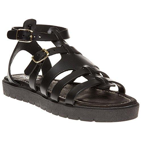 Sole Keiko Damen Sandalen Schwarz Schwarz
