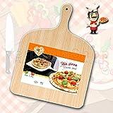 2 x PALA PER PIZZA IN LEGNO DI BETULLA - Natural Beechwood Pizza Paddle/Peel