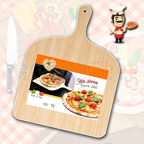 Pizzaschieber aus Holz NATURAL Beechwood Pizza Paddle Peel giropizza 30x41
