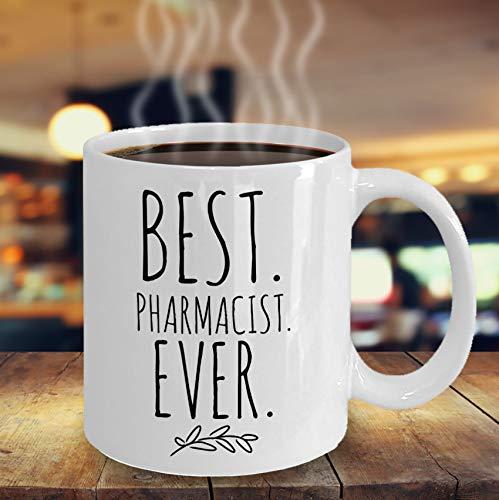 Best Pharmacist Ever - Taza de café, regalo minimalista para farmacéutico, regalo de jubilación, taza de farmacia