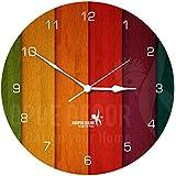 Hoopoe Decor MDF Abstract Trendy Wall Clock (28 cm x 0.8 cm x 28 cm, HDMC-0105)