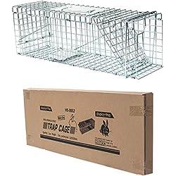 D4P Display4top Animal Trap Cage Trampa de Captura de Animales Vivos, Gatos, Perros, Conejos, roedores (79 x 28 x 33cm)