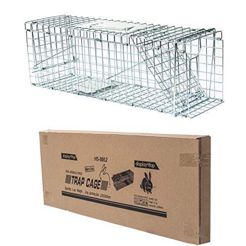 Display4top Media Humana Jaula de captura de animales vivos, captura y conejo, ardilla, mapache - 79 x 28 x 33 cm; ayuda a resolver el problema de plagas mientras no daña a las pequeñas criaturas lindas   Especificación: 79 x 28 x 33 cm   Acabado de...