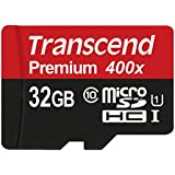 Transcend 32GB Premium MicroSDHC Memory Card Class 10 UHS-I - Without Adapter