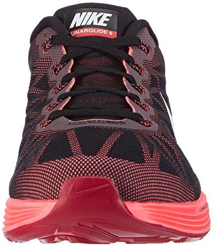 Nike Lunarglide 6, Running Entrainement Homme Noir (black/white-bright Crimson-hot Lava)