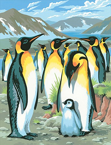 Mammut 8220033 - Painting by Numbers Junior-Pinguine, ca. 30,3 x 22,4 cm