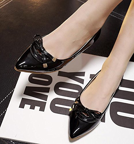 &zhou Punta testa piatto donna tempo libero moda comfort pigro sexy scarpe sandali 35