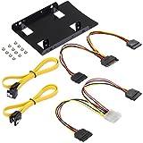 Poppstar Einbau-Kit und S-ATA Kabelset für interne 2
