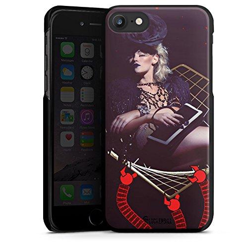 Apple iPhone X Silikon Hülle Case Schutzhülle Frau Champagner Roboter Hard Case schwarz