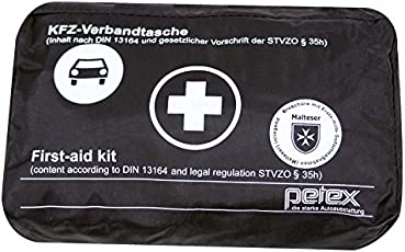 PETEX 43930004 Verbandtasche Inhalt nach DIN 13164 schwarz