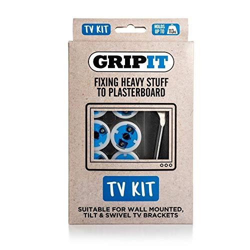GripIt GTVKIT TV Kit, Blau, 4 Stück (25-flachbild-tv)