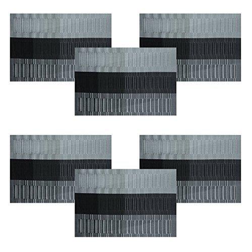 Kompatible Tischset Tischläufer, U'Artlines 1 Stück Exquisite PVC Tischläufer für Tisch Wärmedämmung Fleck-beständige gewebte...