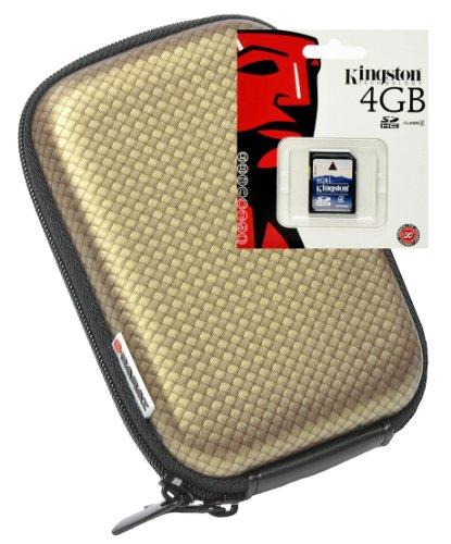 Hartschale Carbon gold Set mit 4GB SD Karte