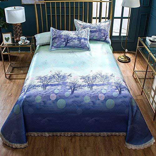 Xuzin Cooling Mat Ice Silk Sitz DREI Stück Set Falten Klimaanlage Sitz Single Doppelmatratze Pads 150X200 cm by (College-schlafsaal Bettwäsche-sets)