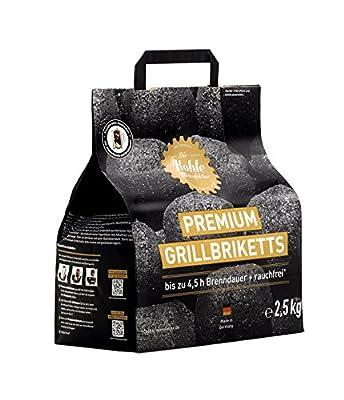 Die Kohle Manufaktur Premium Grillbriketts 1 x 2,5 kg long tasting