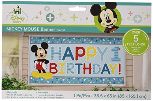 (Micky Maus Spaß zu einem horizontalen Geburtstag Banner)