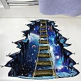 Wandaufkleber, erthome 3D Star Series Boden Wall Sticker Universum Planet Hängebrücke Wandabziehbilder Abnehmbar Zimmer Dekor