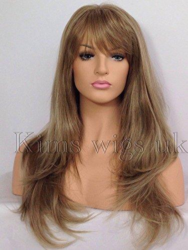 Kims Wigs #18T22 Perruque cheveux longs châtains clair/blonds et doux résistant à la chaleur pour femme