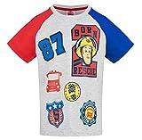 Feuerwehrmann Sam Kollektion 2018 T-Shirt 92 98 104 110 116 122 128 Shirt Fireman Sam Jungen Neu Top Feuerwehrauto Grau (Grau, 92/98)