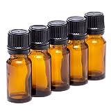 10PCS ätherisches Öl Glas innen Travel Flaschen mit Plug und schwarz cap-empty Gläser Kosmetik makeupwater Emulsion Elite Fluid Vorratsdosen(10ml)