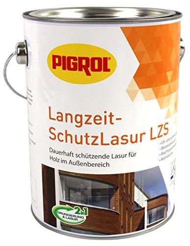 Pigrol Langzeit-Schutzlasur 2,5L teak Holzlasur für alle Hölzer im Außenbereich
