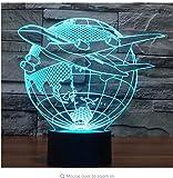 3D Led Nachtlicht Flugzeug Flugzeug Erde Mit 7 Farben Licht Für Heimtextilien Lampe Erstaunliche Visualisierung Optische Täuschung