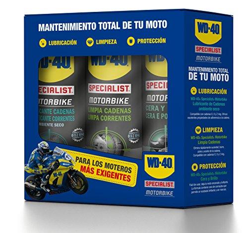 Tripack mantenimiento total de moto en ambiente seco - WD-40 Specialist Motorbike...