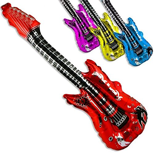 Party Discount Ballon en aluminium en forme de guitare