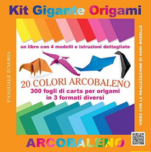 Kit gigante origami. 20 colori arcobaleno. Ediz. a colori. Con gadget