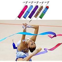Cintas de Gimnasia Rítmica danza Streamer Vara Baton Twirling arte gimnasio Fitness cinta por Trimming Shop