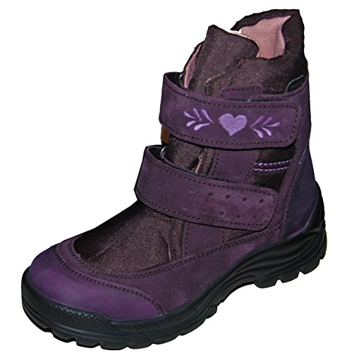 Däumling chaussures pour enfants, polaire grande chaussures de chaussures Violet - Turino fiesole (lila)