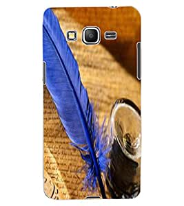 ColourCraft Lovely Feather Design Back Case Cover for SAMSUNG GALAXY GRAND PRIME G530H