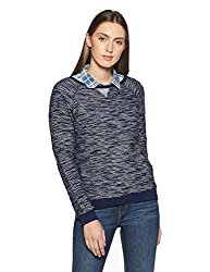 People Womens Cotton Pullover (P20401356079250_Indigo_Large)
