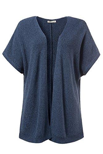 Ulla Popken Femme Grandes tailles Cardigan à manches longues - Hauts - Femmes - Tailles 44 à 58 709358 bleu jean
