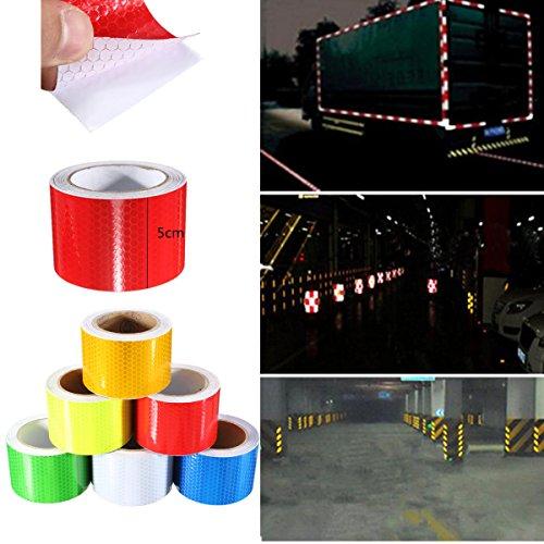 king-do-way-ruban-adhesif-reflechissant-ruban-davertissement-safety-warning-film-velo-bande-de-visib