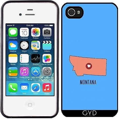 Custodia in silicone per Iphone 4/4S - Montana Cuore Dello Stato by ilovecotton
