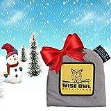 Wise Owl Outfitters - Amaca Con Cinghie Talon, Lunga 6 Metri, 38 Nodi Con 2 Moschettoni - Facilmente Adattabili E Tree-Friendly Bisogna Per Amaca Camping Come ENO, C: Nero Con Cucitura Arancione