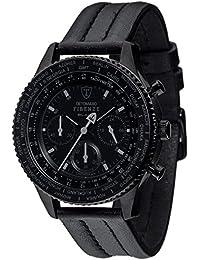 DETOMASO Herren-Armbanduhr Firenze Black Chronograph Forza Di Vita Chronograph Quarz DT1068-A